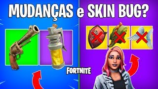 FORTNITE-BOMB OF STINK REMOVED, REVOLVER COMING BACK and SKIN BUGADA?