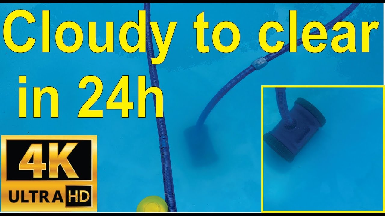 How to clear a cloudy pool in 24 hours (flocculant) - YouTube