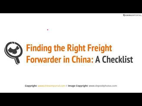 Finding the Right Freight Forwarder in China: A Checklist
