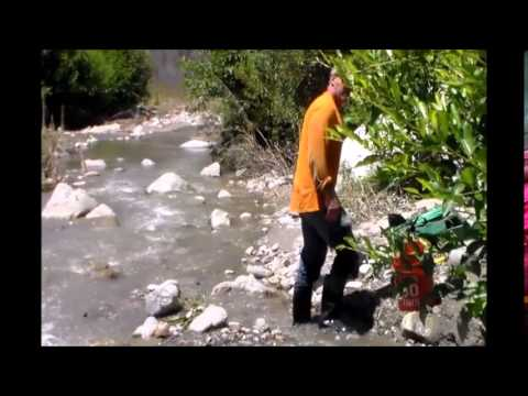 Gold Prospecting East Fork San Gabriel River 7/29/15 California