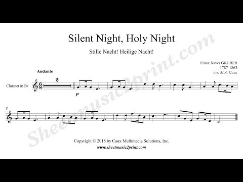 Silent Night - Clarinet