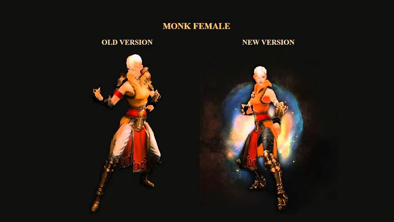 Diablo 3 Monk Female Old Animation Vs New