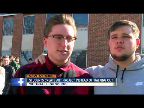 Whitnall High School students create artwork for walkout to support Stoneman Douglas High School
