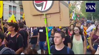 [DIADA 2018] Manifestación convocada por la CUP para la Diada en Barcelona