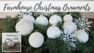 Farmhouse Christmas Ornaments   Up-Cycled Christmas Decor