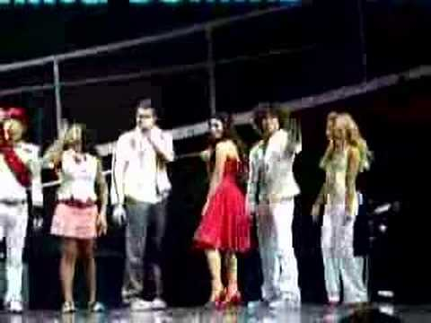 high school musical concert ashley lucas corbin exit stage