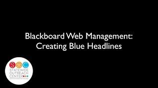 Tableau de Gestion du Web: la Création de Bleu Manchettes pour des raisons de Cohérence