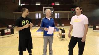 Elite 80 Alum Jaden Newman beats Steph Curry in 3 point contest in awesome Foot Locker commercial!