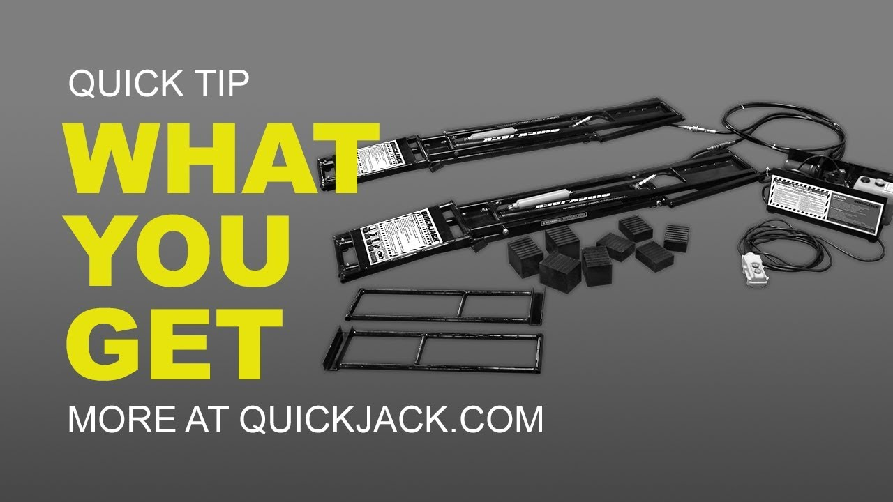 Quick Jack Com >> What Comes With Your Quickjack Car Lift Order Youtube