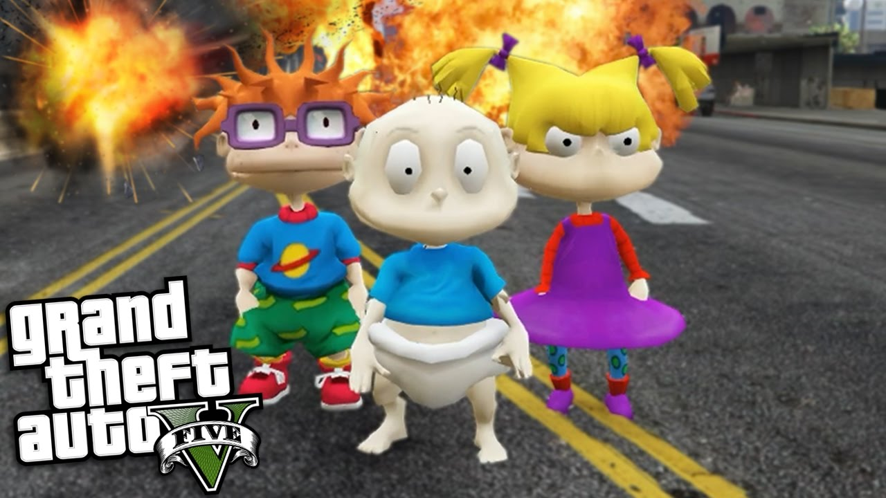 Gta 5 Mods Rugrat Mod W Tommy Chuckie Angelica Play