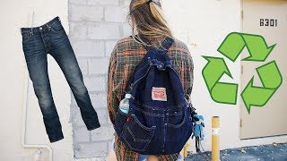 DIY Levi's Jeans to BACKPACK Tutorial | DUB DUB