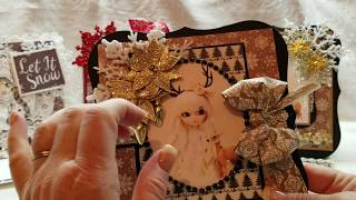 Saturated Canary and Anime Doll Christmas Cards