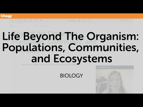 Life Beyond The Organism: Populations, Communities, And Ecosystems | Biology | Chegg Tutors