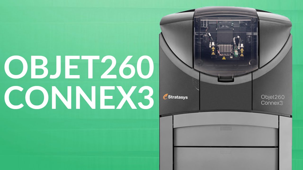 The Stratasys Objet260 Connex3 Multi-Material Color 3D Printer