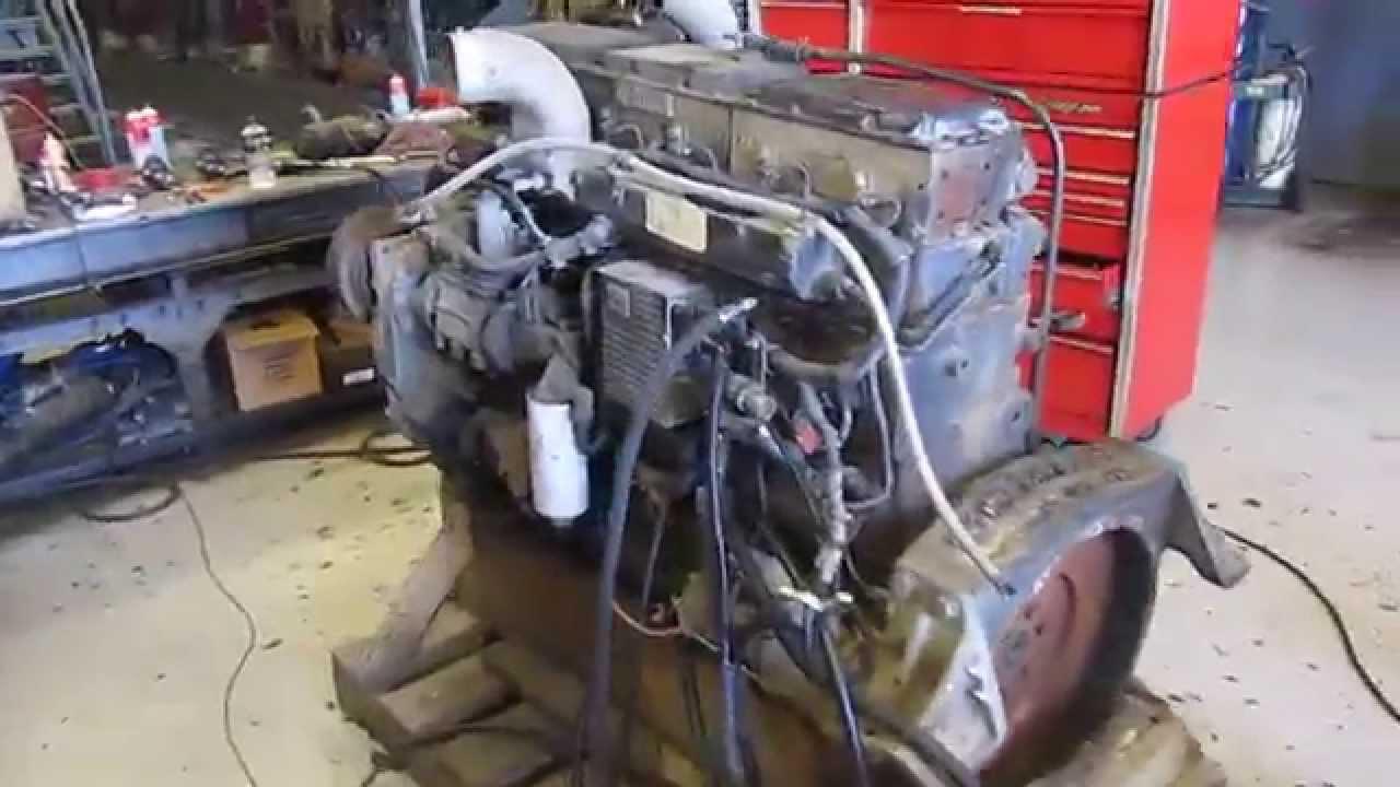 1994 Cummins N14 Celect Engine Running Youtube