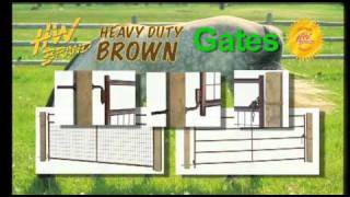 HW BRAND Heavy Duty Brown Livestock Equipment