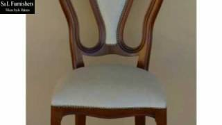 Traditional Curved Material Chair