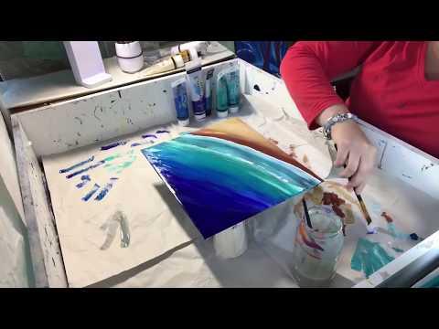 56 - Epoxy Resin Art on Glass - Elegant Frame Beautiful gift idea - Bringing the ocean to you