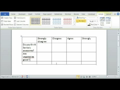 How To Make A Likert Scale In Word : Using Microsoft Word - Youtube