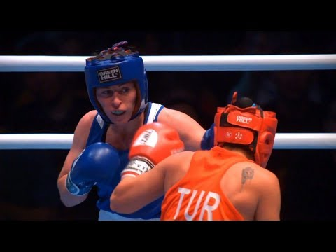 Semifinals (W69kg) SURMENELI Busenaz (TUR) vs DALGATOVA Saadat (RUS)  / AIBA WWC