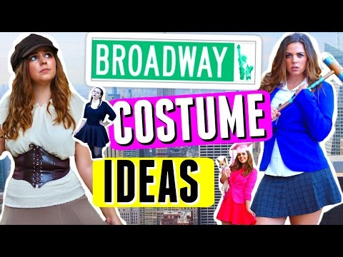 🎃 5 DIY HALLOWEEN COSTUMES: BROADWAY MUSICAL EDITION!! 🎭 THEATRE GIRL DIY COSTUME IDEAS!