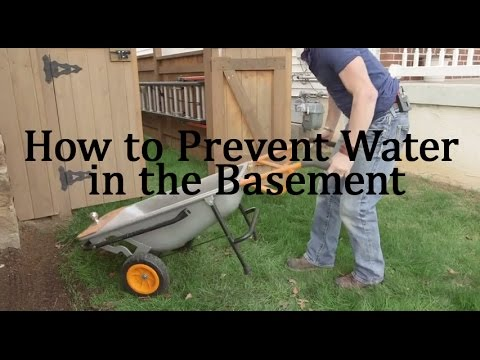 how to prevent water in the basement youtube rh youtube com how to prevent water in basement how to prevent water in basement landscaping