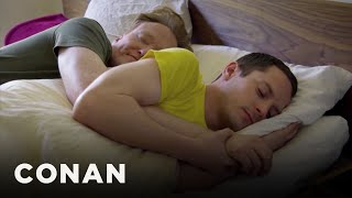 Elijah Wood On Spooning With Conan