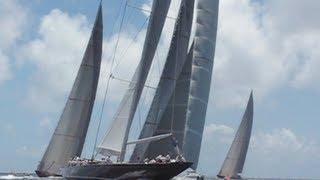 5 J-Class yachts race at St Barths