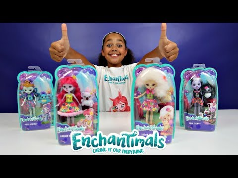 Thumbnail: NEW Enchantimals Dolls Toy Haul With Animal Friends - Kids Toy Review | Toys AndMe