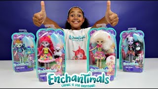 new enchantimals dolls toy haul with animal friends kids toy review toys andme