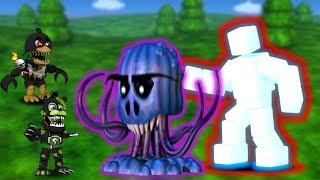 FNAF WORLD Супер битва Скотт и Seagoon против моих героев Эти Аниматроники очень сильные