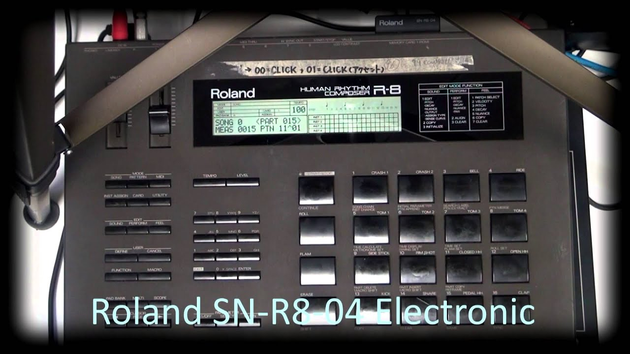 roland r 8 sn r8 04 electronic youtube rh youtube com Gold R8 roland r 8 service manual