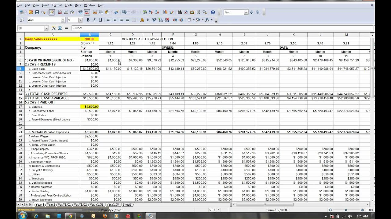 How to fill out SBA form 1100 planning spreadsheet How to start ...