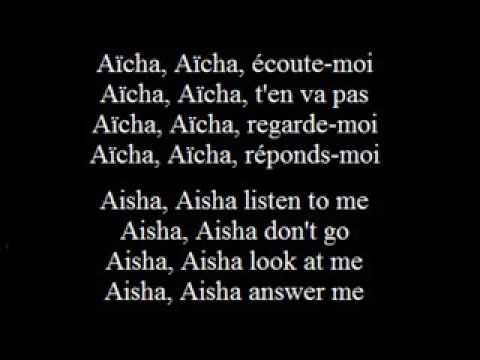 Aicha   Cheb Khaled   French subs francais  anglais French English low