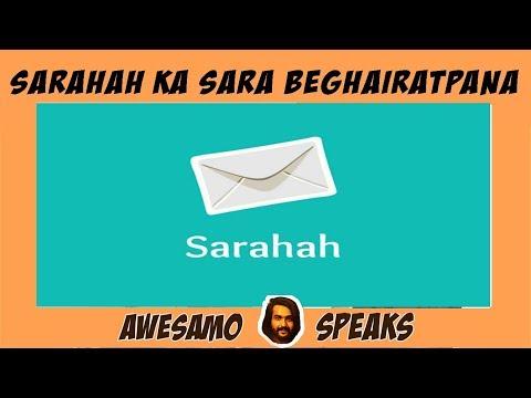 AWESAMO SPEAKS | SARAHAH KA SARA BEGHAIRATPANA