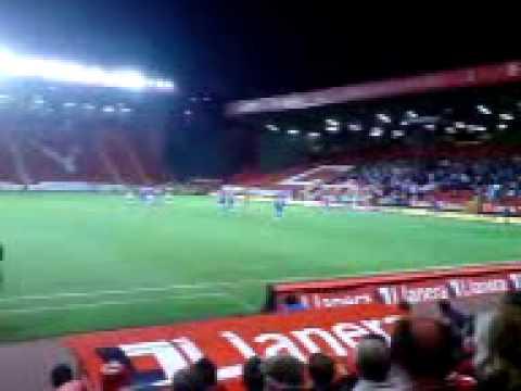 Zheng Zhi penalty for Charlton against  Stockport