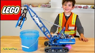 Unboxing and Playing with Lego Crawler Crane Truck + Pretend Plays Cops and Robbers Intro Skit