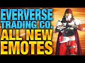 Eververse Trading Co. - All 18 Emotes Shown - Destiny Update 2.0.1 New Emotes