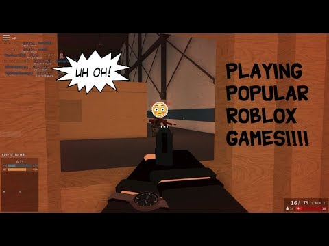 Playing popular Roblox games #1