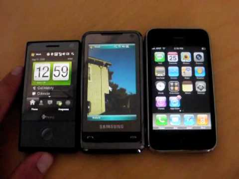 iPhone 3g v HTC Touch Diamond v Samsung Omnia, Pt 1