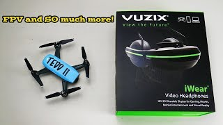 DJI Goggles Rival!  Vuzix iWear Headphones Review!  Should you buy them? TDV 16