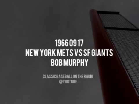 1966 09 17 New York Mets vs SF Giants (Bob Murphy, Ralph Kiner, Lindsey Nelson)