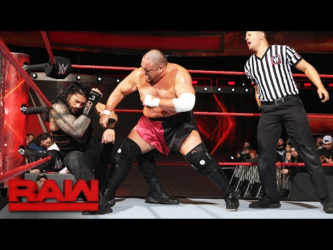 Roman Reigns vs. Samoa Joe: Raw, Feb. 6, 2017