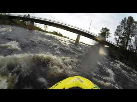 Jet skiing rapids on the Ounasjoki river
