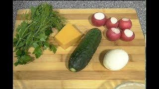 Весенний салат  Рецепт салата  Очень питательный салат