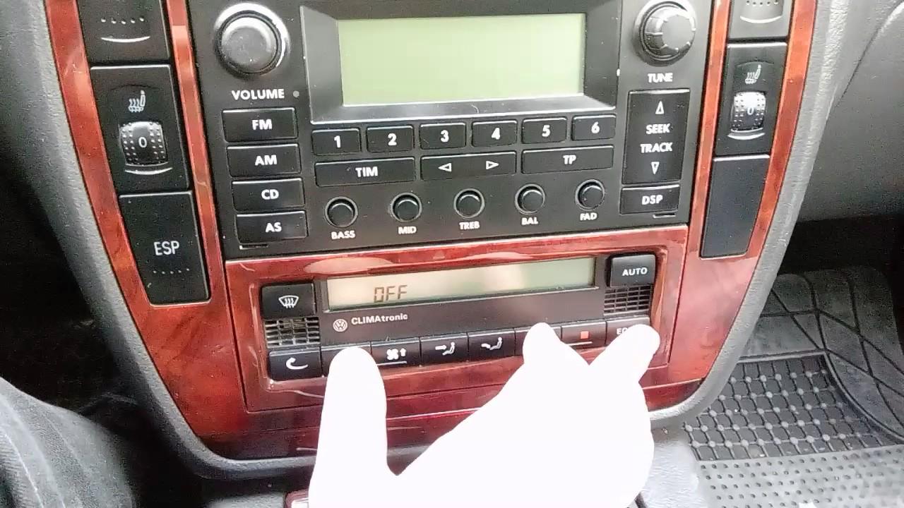 VolksWagen Passat b5 5 gizli özellikler CLİMAtronic