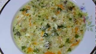 грибной суп с яйцом