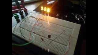 led ritmico com bc548