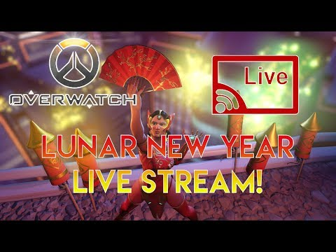 Overwatch Lunar New Year Live Stream! (Road to 1.3K Subs!)
