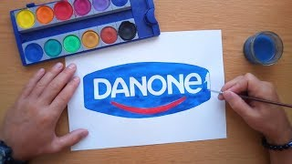 How to draw the Danone logo